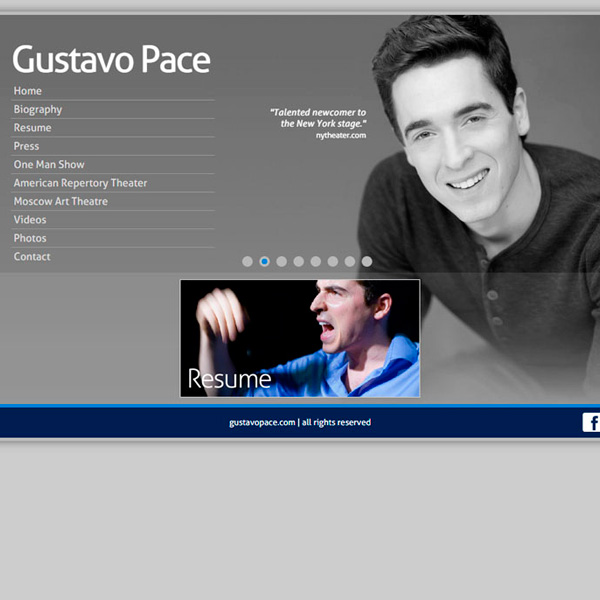 Site do Ator Gustavo Pace